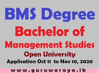 BMS Degree (Bachelor of  Management Studies) : Open University