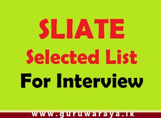 SLIATE :  Selected List