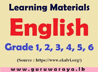 Learning Materials :  English (Grade 1,2,3,4,5,6)
