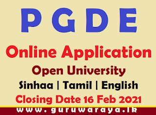 PGDE Online Application