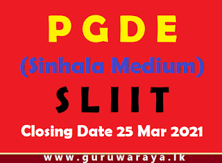 PGDE (Sinhala Medium) : SLIIT