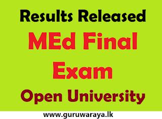 MEd Results Released : Open University