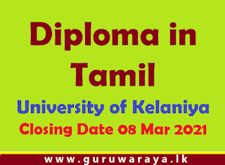 Tamil Diploma Course