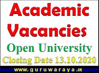 Academic Vacancies : Open University
