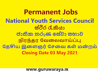 Permanent Jobs : National Youth Services Council