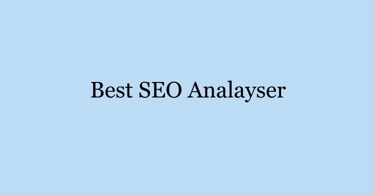 Best SEO Analayser