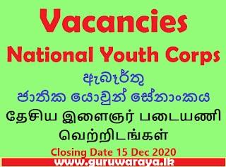 Vacancies : National Youth Corps