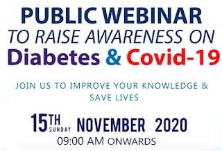 Public Webinar : Awareness on Diabetes & Covid 19