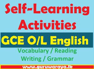 GCE O/L English