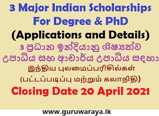 Indian Scholarships (Applications and Details)